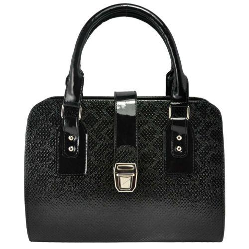 Женская сумка 3014 питон черная
