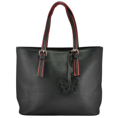 Женская сумка 3015 черная с красным