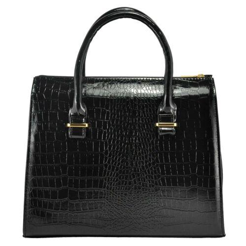 Женская сумка 4915 крокодил черная