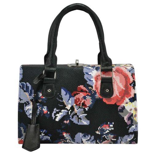 Женская сумка 5413 синяя с цветами