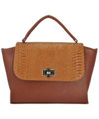 Женская сумка 5115 питон рыжая