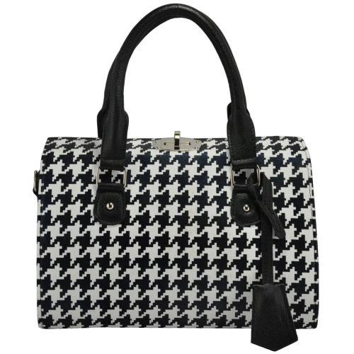 Женская сумка 5413 гусиная лапка черная