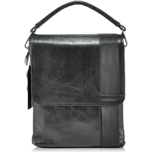 Мужская кожаная сумка 4130 Gloss черная