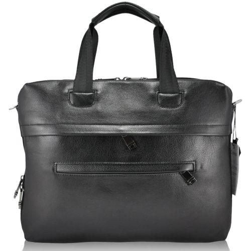 Мужской кожаный портфель 4451 черный