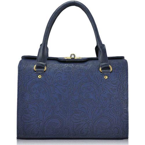 Женская сумка 5315 кружево синяя