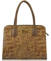 Женская сумка 5515 Crocodile бежевая