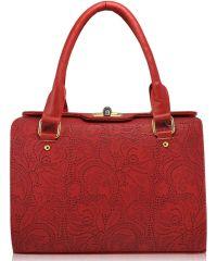 Женская сумка 5315 кружево красная