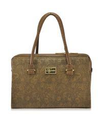 Женская сумка 5215 кружево бежевая