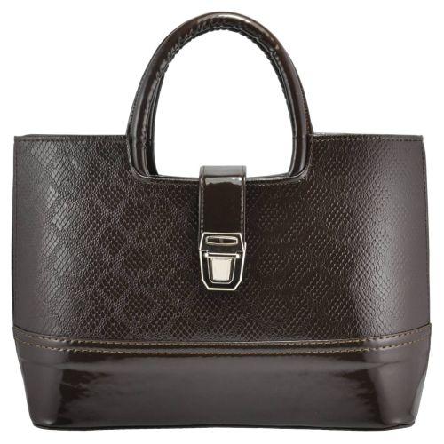Женская сумка 2415 питон коричневая