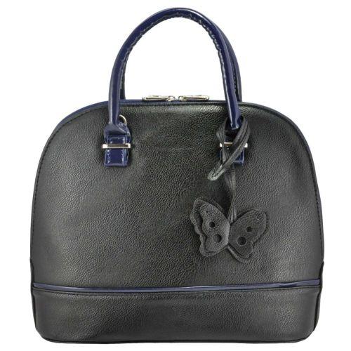 Женская сумка 3715 черная с синим