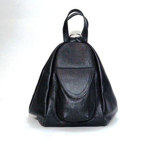 Кожаный рюкзак трансформер Асти черный