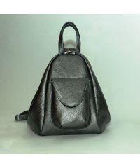 Кожаный рюкзак трансформер Асти никель