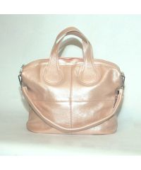 Женская кожаная сумка Nightingale пудровая с перламутром