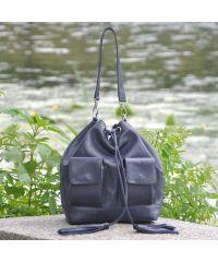 Женская кожаная сумка Orebella темно-синяя