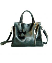 Женская кожаная сумка Пескара черная