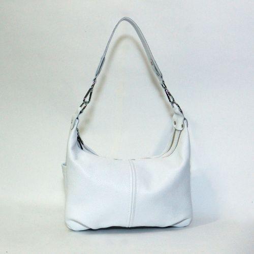 Женская кожаная сумка Римини белая