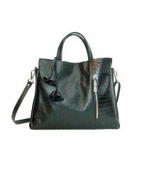 Женская кожаная сумка Салерно черная