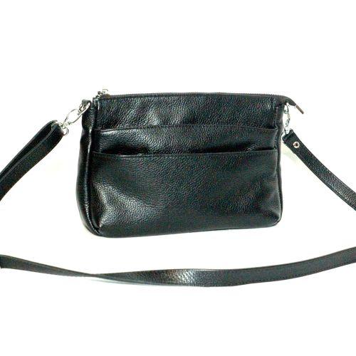 Женская кожаная сумка Сицилия черная