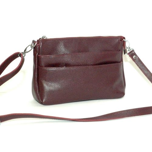 Женская кожаная сумка Сицилия виноградная