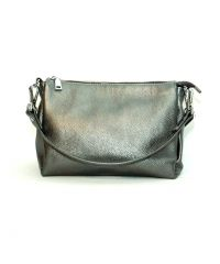 Женская кожаная сумка Торино никель