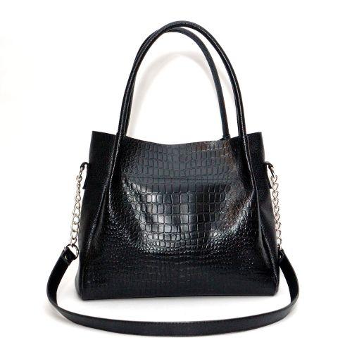 Женская кожаная сумка Верона черная