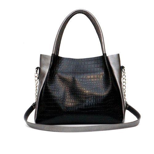 Женская кожаная сумка Верона никель
