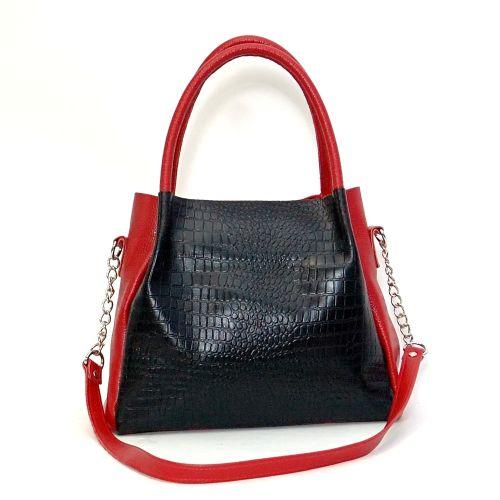 Женская кожаная сумка Верона красная
