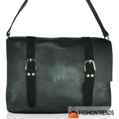 Женская кожаная сумка sf-58 черная
