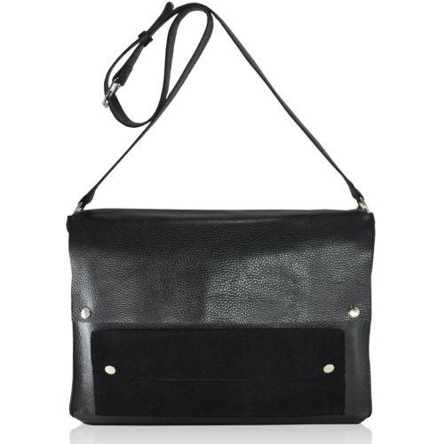 Женская кожаная сумка sfv-59 черная