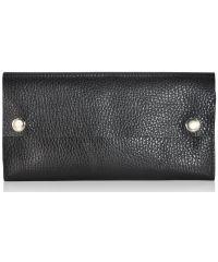 Кожаный клатч-кошелек fku-16-58 черный