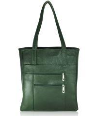 Женская кожаная сумка Merkel зеленая