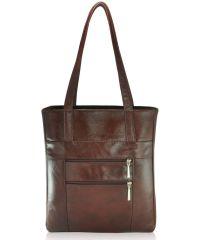 Женская кожаная сумка Merkel коричневая