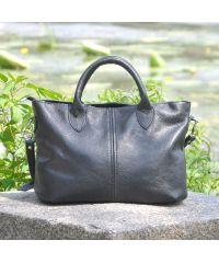 Женская кожаная сумка Marta черная