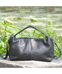 Женская кожаная сумка Tuba черная
