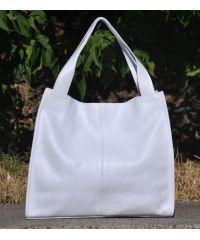 Кожаная сумка Mesho белая
