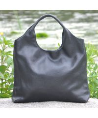 Женская кожаная сумка Hobo черная
