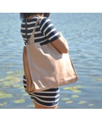 Женская кожаная сумка Mesho пудра