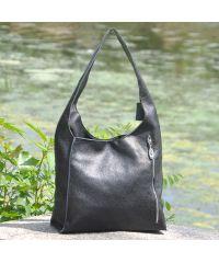 Женская кожаная сумка Adel черная