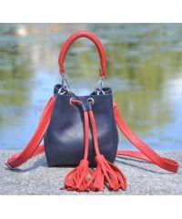 Кожаная сумка Mira Mini синяя