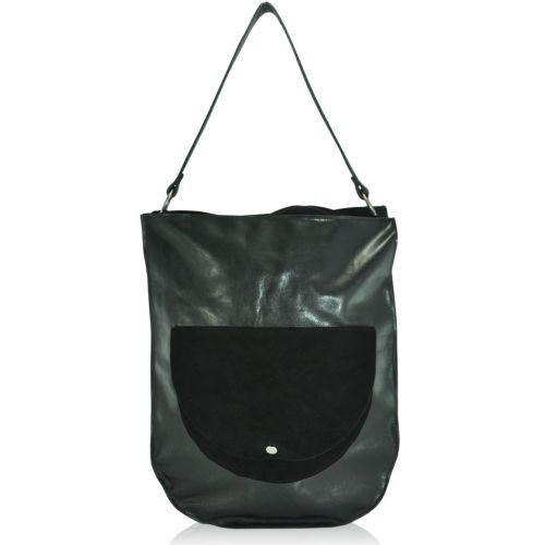 Женская кожаная сумка sg-47 черная