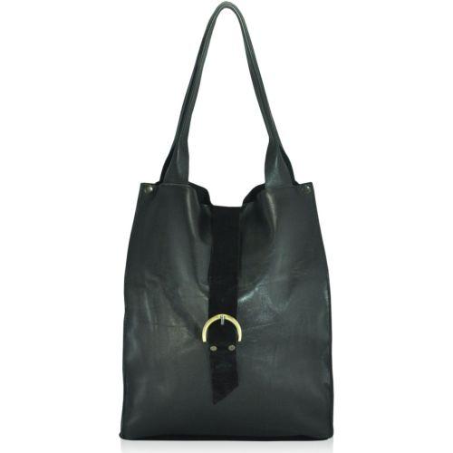 Женская кожаная сумка sg-48 черная