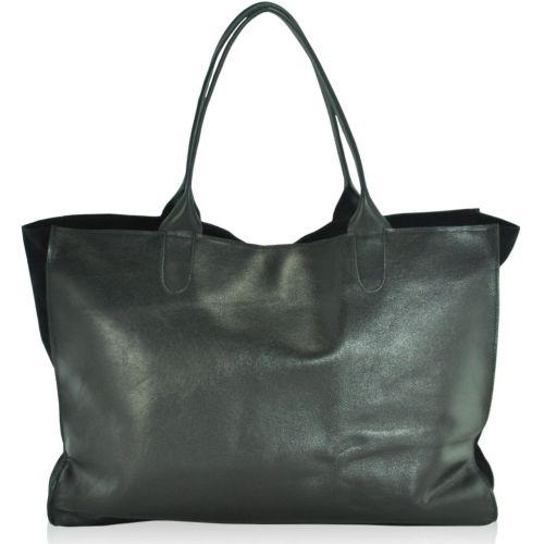 Женская кожаная сумка sg-69 черная