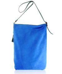 Женская замшевая сумка FIDELITTI Shopper синяя