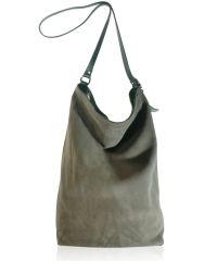 Женская замшевая сумка FIDELITTI Shopper тауп