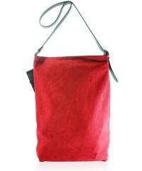 Женская замшевая сумка FIDELITTI Shopper красная
