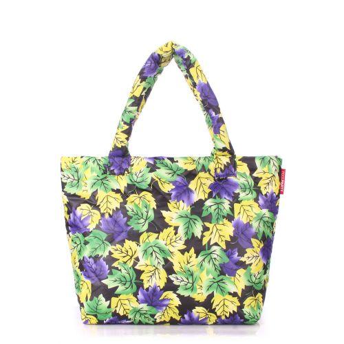 Дутая сумка PoolParty pp4-yellow-violet-leaves