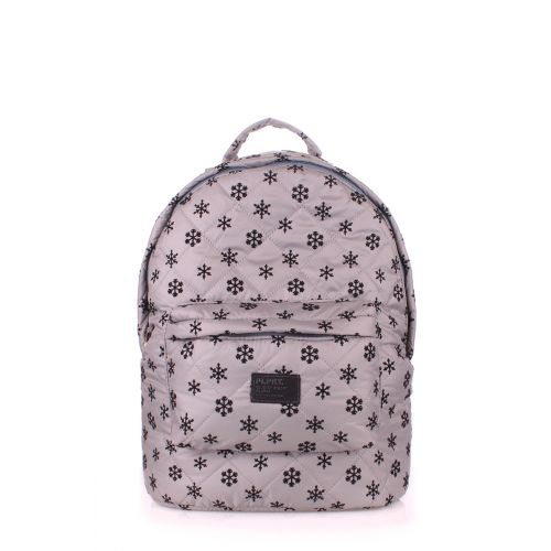 Рюкзак PoolParty backpack-snowflakes-grey