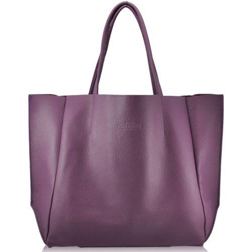 Женская кожаная сумка PoolParty Soho лиловая
