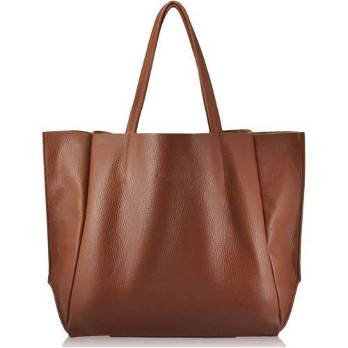 Женская кожаная сумка PoolParty Soho рыжая