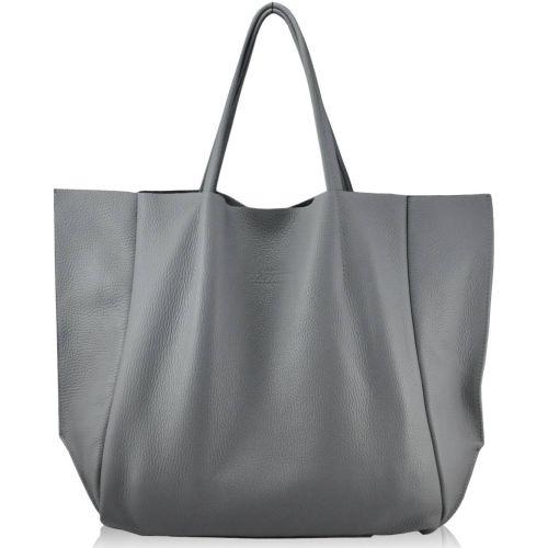 Женская кожаная сумка poolparty-soho-grey серая